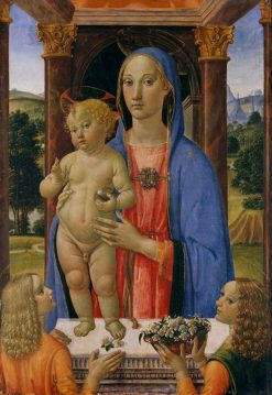 Madona and Child with Angels   Cosimo Rosselli   Oil Painting