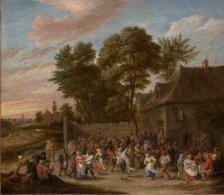 Peasants Feasting and Dancing | David Teniers II | Oil Painting