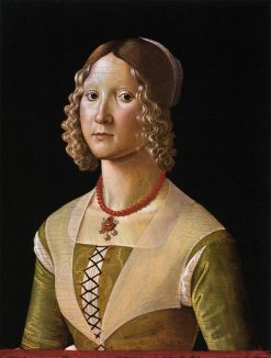 Portrait of Selvaggia Sassetti | Davide Ghirlandaio | Oil Painting