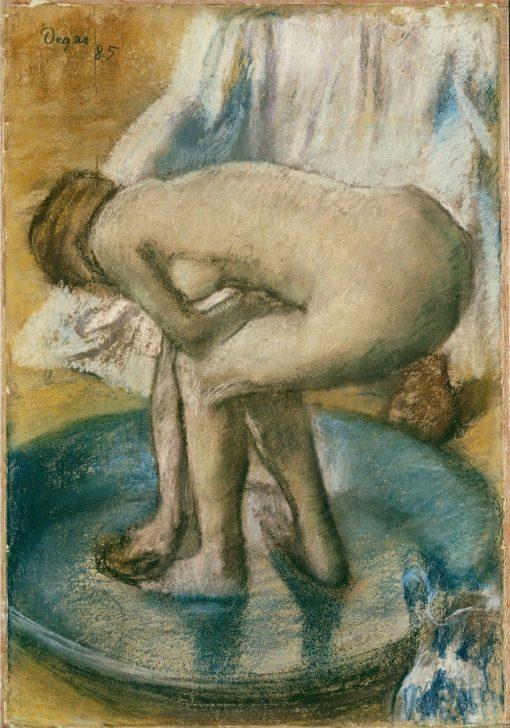 Woman Bathing in a Shallow Tub | Edgar Degas | Oil Painting