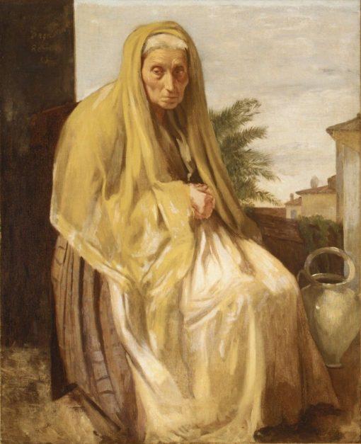 An Old Italian Woman | Edgar Degas | Oil Painting