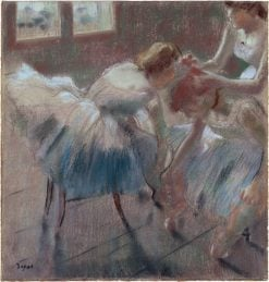 Three Dancers Preparing for Class | Edgar Degas | Oil Painting