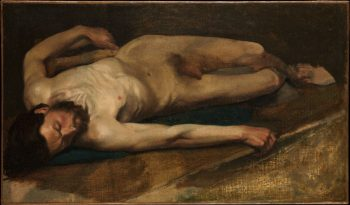 Male Nude   Edgar Degas   Oil Painting