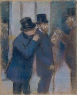 Portraits at the Stock Exchange | Edgar Degas | Oil Painting