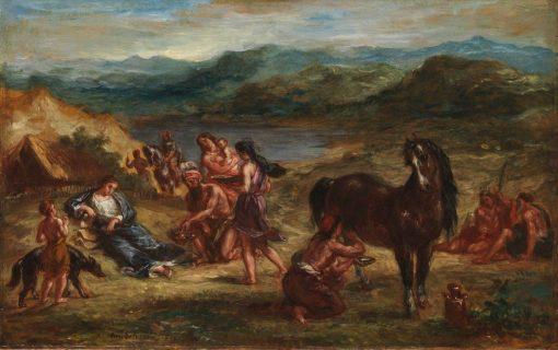 Ovid Among the Scythians | Eugene Delacroix | Oil Painting