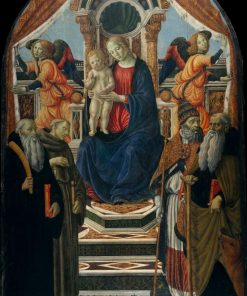 Madonna and Child Enthroned with Saints and Angels | Francesco Botticini | Oil Painting