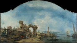 Capricci (Fantastic) Landscape | Francesco Guardi | Oil Painting