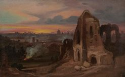 View of Rome with Ruined Church | Franz Ludwig Catel | Oil Painting