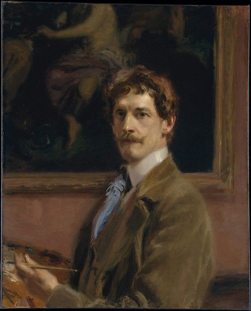 Self-Portrait   Frederick William MacMonnies   Oil Painting
