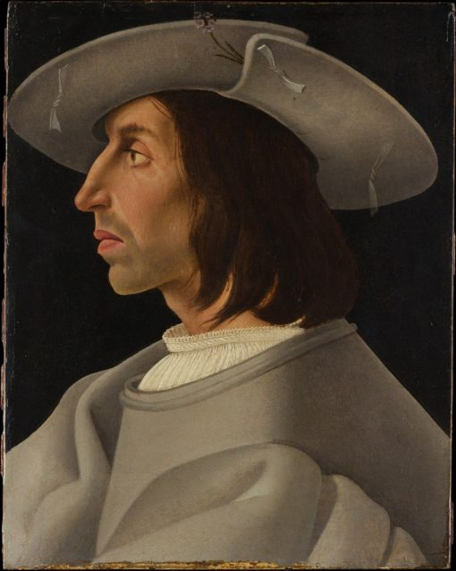 Portrait of a Man in Profile   German School th Century   Unknown   Oil Painting