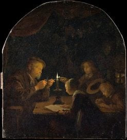 An Evening School | Gerrit Dou | Oil Painting