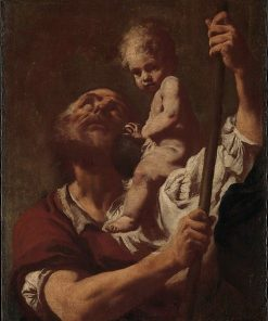Saint Christopher Carrying the Infant Christ | Giovanni Battista Piazzetta | Oil Painting