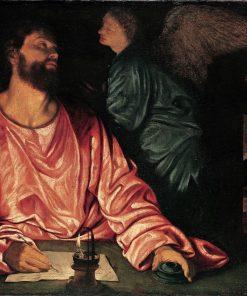 Saint Matthew and the Angel | Giovanni Girolamo Savoldo | Oil Painting