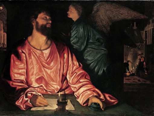 Saint Matthew and the Angel | Giovanni Girolamo Savoldo | Oil Painting