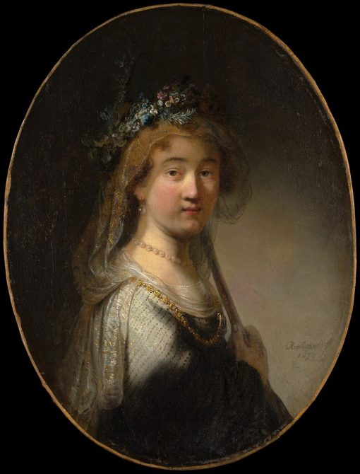 A Young Woman as a Shepherdess (Saskia as 'Flora') | Govaert Flinck | Oil Painting