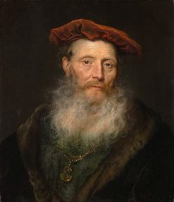 Bearded Man with a Velvet Cap | Govaert Flinck | Oil Painting