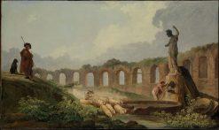 Aqueduct in Ruins | Hubert Robert | Oil Painting