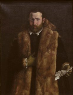 Portrait of a Man in a Fur-Trimmed Coat | Italian School th Century   Unknown | Oil Painting