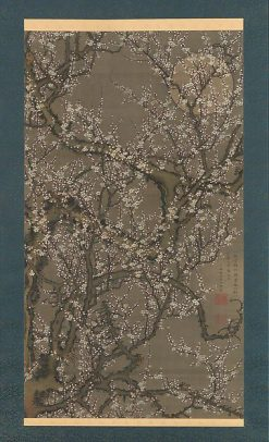 White Plum Blossoms and Moon | Ito? Jakuchu? | Oil Painting