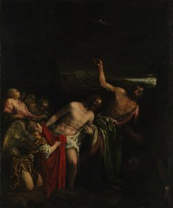 The Baptism of Christ   Jacopo Bassano   Oil Painting