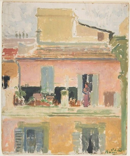 Terrace of a Building in Rome | Jacques Emile Blanche | Oil Painting