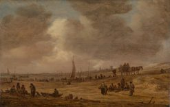 A Beach with Fishing Boats | Jan van Goyen | Oil Painting