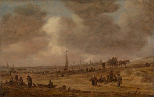 A Beach with Fishing Boats | Jan van Goyen | Oil Painting