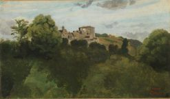 View of Genzano | Jean Baptiste Camille Corot | Oil Painting