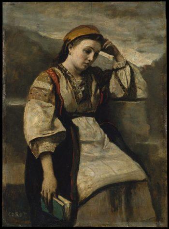Reverie | Jean Baptiste Camille Corot | Oil Painting