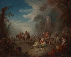 Troops at Rest   Jean Baptiste Pater   Oil Painting