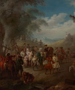 Troops on the March | Jean Baptiste Pater | Oil Painting