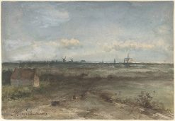 View of Haalem from the Dunes | Johan Hendrik Weissenbruch | Oil Painting