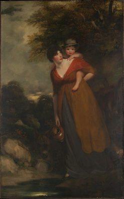 Mrs Richard Brinsley Sheridan and Her Son Charles   John Hoppner   Oil Painting