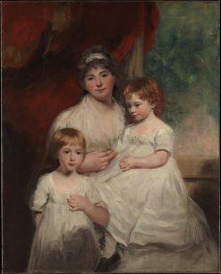 Mrs John Garden and Her Children   John Hoppner   Oil Painting