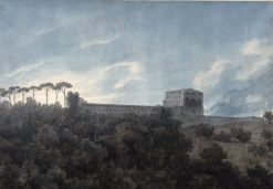 View of the Villa Lante on the Janiculum in Rome | John Robert Cozens | Oil Painting