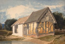 Farm Building by a Pond | John Sell Cotman | Oil Painting