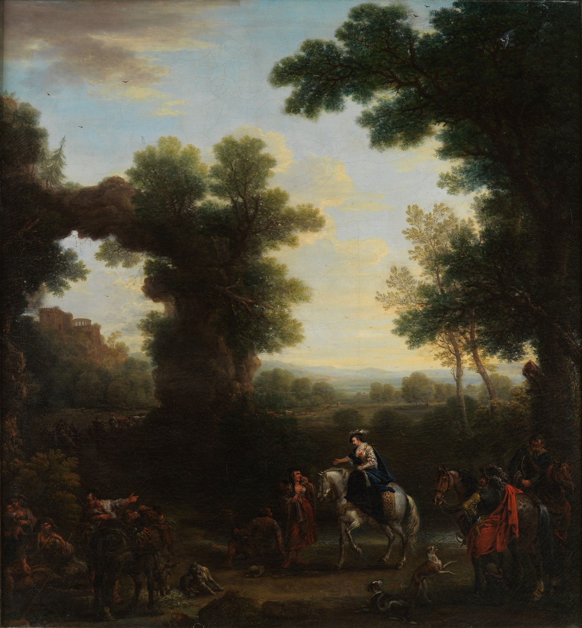 Classical Landscape with Gypsies | John Wootton | Oil Painting