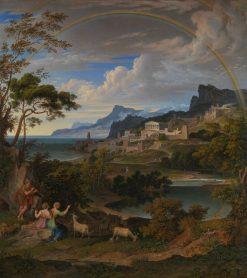 Heroic Landscape with Rainbow | Joseph Anton Koch | Oil Painting