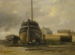 Shipyard at Le Havre | Jules Coignet | Oil Painting