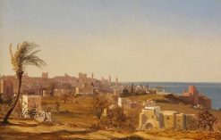 View of Beirut   Jules Coignet   Oil Painting