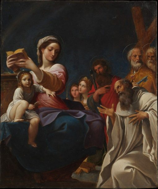 Madonna and Child with Saints | Lodovico Carracci | Oil Painting