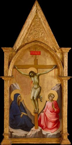 The Crucified Christ between the Virgin and Saint John the Evangelist | Lorenzo Monaco | Oil Painting