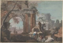 Capriccio with Roman Ruins | Marco Ricci | Oil Painting