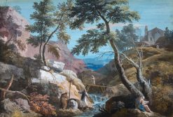 Mountainous Landscape with Hermits | Marco Ricci | Oil Painting