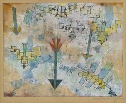 Birds Swooping Down and Arrows | Paul Klee | Oil Painting