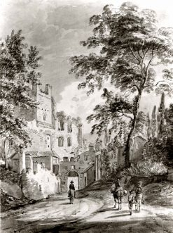 Travelers Entering a Town | Paul Sandby