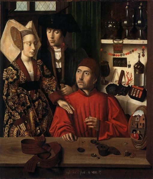 A Goldsmith in His Shop(also known as St Eligius in His Workshop) | Petrus Christus | Oil Painting