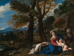 The Rest on the Flight into Egypt | Pier Francesco Mola | Oil Painting