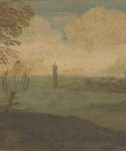 Coastal Landscape with Tower | Pier Francesco Mola | Oil Painting