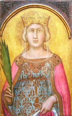 Saint Catherine of Alexandria | Pietro Lorenzetti | Oil Painting